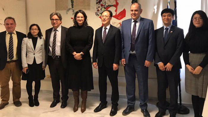 Συνάντηση με τον Γενικό Διευθυντή Διεθνούς Συνεργασίας και Ανταλλαγών του Υπουργείου Παιδείας της Κίνας