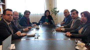 Συνάντηση με τα μέλη του Προεδρείου της Συνόδου των Πρυτάνεων
