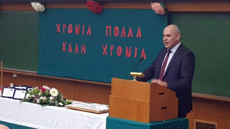 Ο υφυπουργός Παιδείας Βασίλης Διγαλάκης στην εκδήλωση κοπής βασιλόπιτας των Πανεπιστημιακών Νοσοκομείων Αρεταίειου και Αιγινήτειου