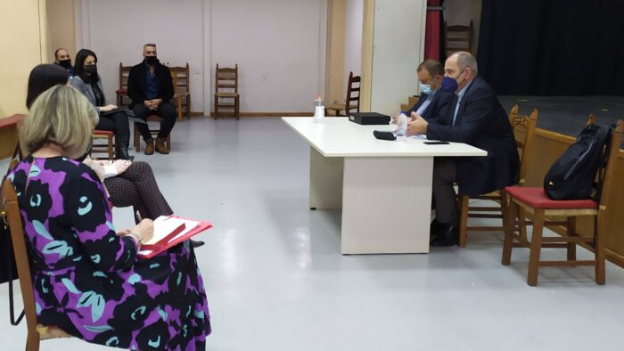 Στην Κίσαμο για το νέο σχολικό συγκρότημα ο Βασίλης Διγαλάκης