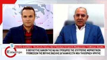 """Συνέντευξη στη ΝΕΑ Τηλεόραση Κρήτης και την εκπομπή """"Στο Επίκεντρο"""", 13 Οκτωβρίου 2021."""